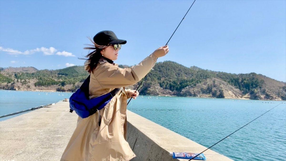 映える釣り1年生の春の釣りウェアを身にまといルンルン釣行!