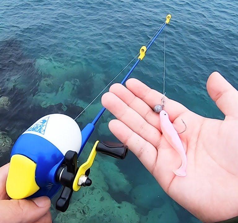 こんなおもちゃで釣れるのか?【釣れるんるん】検証動画
