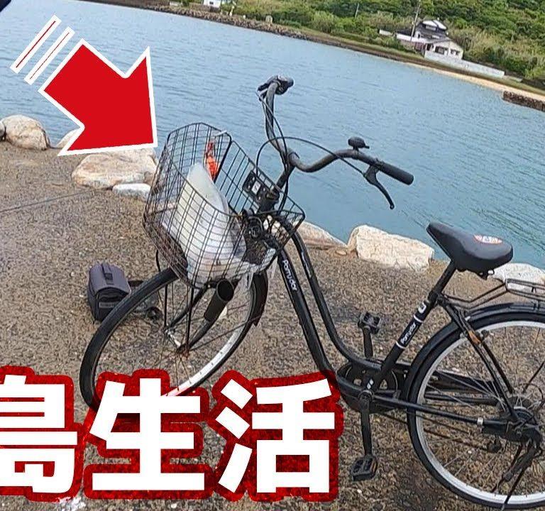 自転車でエギング行ったら巨大なイカが釣れた!