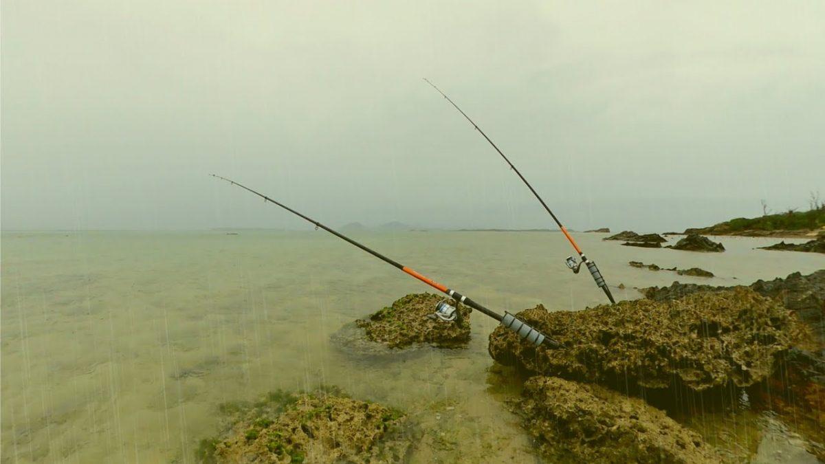 雨の中、浅瀬に現れる謎の大物に挑んだ結果…沖縄カミヤマライトゲーム