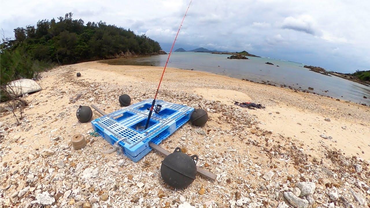 漂流ゴミだけで本気のイカダを作って無人島まで行って釣りした結果