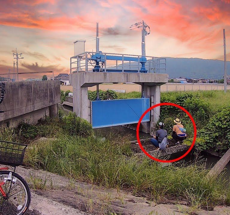 チャリ釣り!!延べ竿で爆釣ポイント発見‼